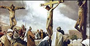 Image result for naked jesus on stake