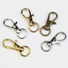<b>10pcs</b>/<b>lot Gold</b> / Silver <b>color</b> Split Key Ring Keychain Swivel Lobster ...