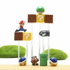 <b>10pcs</b> Super Mario Game 3D <b>PVC Refrigerator</b> Magnets <b>Fridge</b> Note ...