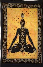 Poster Tapestry Seven Chakra Yoga <b>Buddha Wall</b> Hanging Small ...