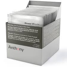 <b>Очищающие салфетки для тела</b> Anthony Shower Sheets (12 ...