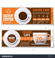 coffee discount coupon voucher label banner stock vector  coffee discount coupon voucher label banner espresso gift template vector