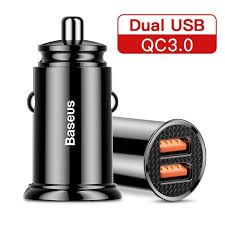 <b>Baseus Dual QC3.0 30W</b> Car Charger - Charger - Mobile Accessories