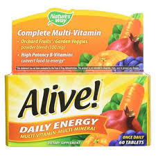 <b>Alive Daily Energy</b> Nature's Way 60 Tabs for sale online | eBay