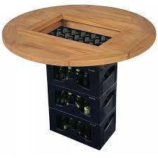 <b>Beer Crate Tabletop Teak</b> 70 cm -