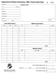 simple work order template template simple work order template