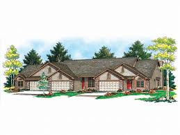 The House Plan Shop Blog » Types of Multi Family House Plans to       Unit Multi Family House Plan M