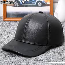 <b>SILOQIN Winter</b> Warm <b>Men'S Genuine</b> Leather Hats Natural ...