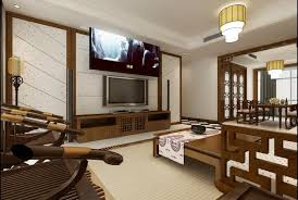 chinese style decor: classic chinese style interior decor with classic wood carved furnishing ideas and antique wall decor tv unit background ideas design