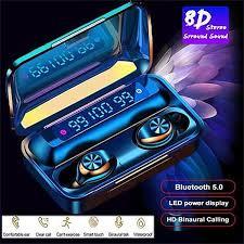 <b>F9 TWS Power</b> Display Wireless Bluetooth 5.0 Headset Hifi Stereo ...