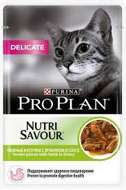<b>Пауч</b> Purina <b>Pro Plan</b> DELICATE, для взрослых кошек с ...