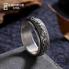 <b>GOMAYA Rings</b> 925 Sterling Silver Cool Gothic Vintage Rock Punk ...