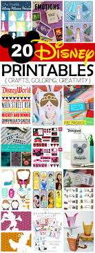 disney printables crafts coloring creativity disney printables on frugal coupon living