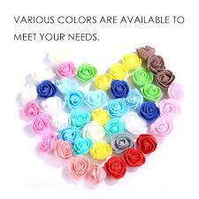 <b>Foam Multicolor Rose Flower</b> Gifts <b>50PCS</b> For Wedding Birthday ...