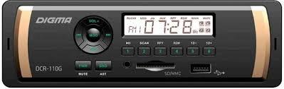<b>Автомагнитола Digma DCR-110G</b> 1DIN 4x45Вт - купить по низкой ...