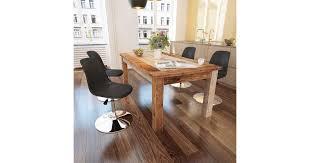 <b>Swivel Dining Chairs 4</b> pcs Black Faux Leather - Matt Blatt