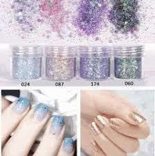 4boxes set 10ml each box shiny gray series nail glitter powder sequins for art uv resin jewelry diy