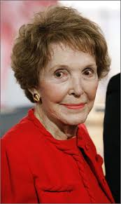 Former first lady Nancy Reagan, wife of the late Pres. Ronald Reagan, at - nancyreaganx