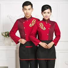 Hotel Kitchen <b>Food Service</b> Work Wear Autumn Winter Lady Long ...