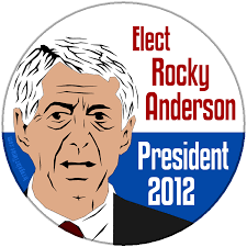 Rocky Anderson supports separation of church and state · Elect Rocky Anderson button or magnet - electrockyandersonthumb