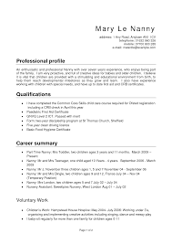nanny resume samples berathen com nanny resume samples is one of the best idea for you to make a good resume 13