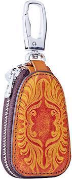 Key Fob Case, Key Wallet, Genuine Leather Car Key ... - Amazon.com