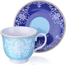 <b>Чайная пара Loraine</b>, цвет: голубой, красный, белый, <b>220</b> мл, 2 ...
