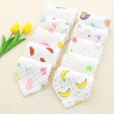Baby Face Towel 25x25cm <b>6 layers</b> Muslin <b>Cotton</b> Soft Baby Towels ...