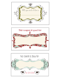DIY Holiday Coupon Book - One Artsy Mama Page 2: Coupon designs 1-3