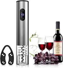 Electric <b>Wine</b> Bottle Opener Corkscrew With <b>Pourer</b> Foil Cutter ...