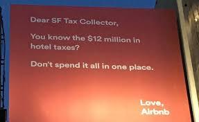 air bnb billboard tax airbnb insane sf