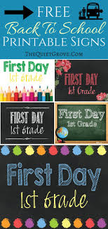 images about first day of school printables 5 back to school printable sign sets