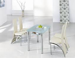 Round Glass Dining Room Table Sets Round Glass Dining Table With Chairs Contemporary Extendable