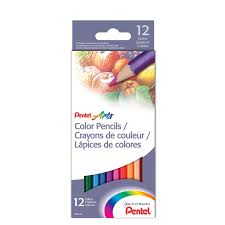 <b>Цветные карандаши Pentel</b> Arts <b>Colour Pencils</b> 12 цветов CB8-12 ...