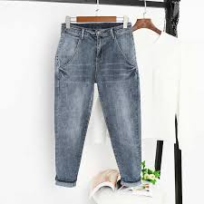 Loose Large Size Jeans Women Denim <b>Harem Pants Vintage</b> High ...