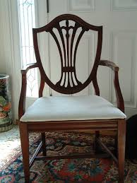 hepplewhite shield dining chairs set: duncan phyfe s  piece mahogany dining room set  shield back chairs  arm chair and  side chairs nice rich reddish color new upholstery pictures