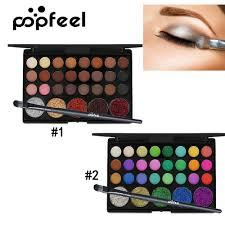 Popfeel <b>29 Colors Eyeshadow Palette</b> Glitter Shinny Waterproof ...