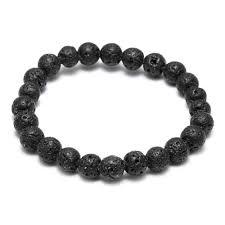 THLIVEOU <b>High Quality 8mm</b> 10mm 12mm 14mm Black Lava Stone ...