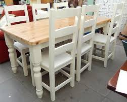 chunky dining table and chairs  dining table large chunky pine shabby chic dining table amp  solid oak chairs farrow