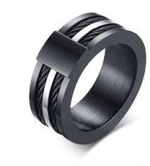 Avia <b>Shape</b> Black Personalized <b>Fashion Stainless</b> Steel Ring Mens ...