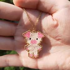 <b>FAIRYWOO</b> Gold Chain Pink <b>Pendant Necklace</b> Pig Animals Cute ...