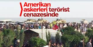ABD askerleri YPG'li teröristlerin cenazesine katıldı