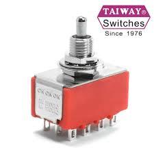 Taiway toggle <b>switch</b> 100-4P6-T200B1M1QE | <b>4PDT</b> On-On-On