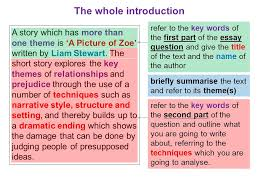 a picture of zoe sample essay essay question choose a story which