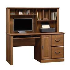 computer desk home office workstation table with hutch in milled cherry cherry office furniture