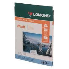 Фотобумага для принтера <b>Lomond</b> односторонняя <b>матовая</b> А4 ...