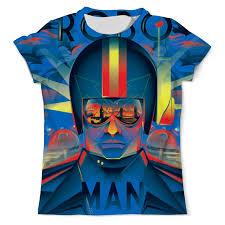 <b>Футболка с полной</b> запечаткой (мужская) Robo man (1) в 2020 г ...