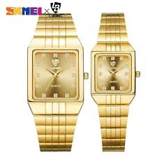 SKMEI Couple watch <b>Luxury Lovers</b> Display <b>Waterproof</b> Quartz ...