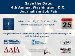 washington d c journalism job fair georgetown university journalism job fair 2017