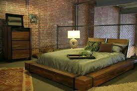industrial chic wood platform bed industrial bedroom chic industrial furniture